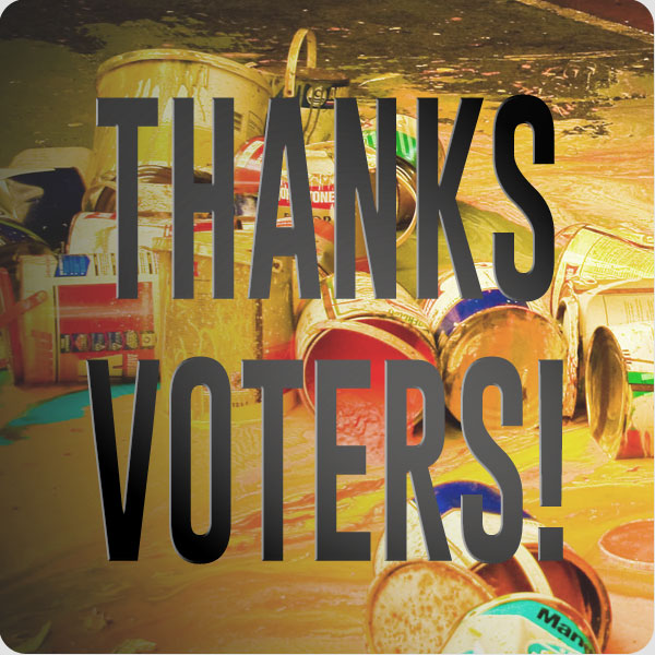 Thanks Voters!