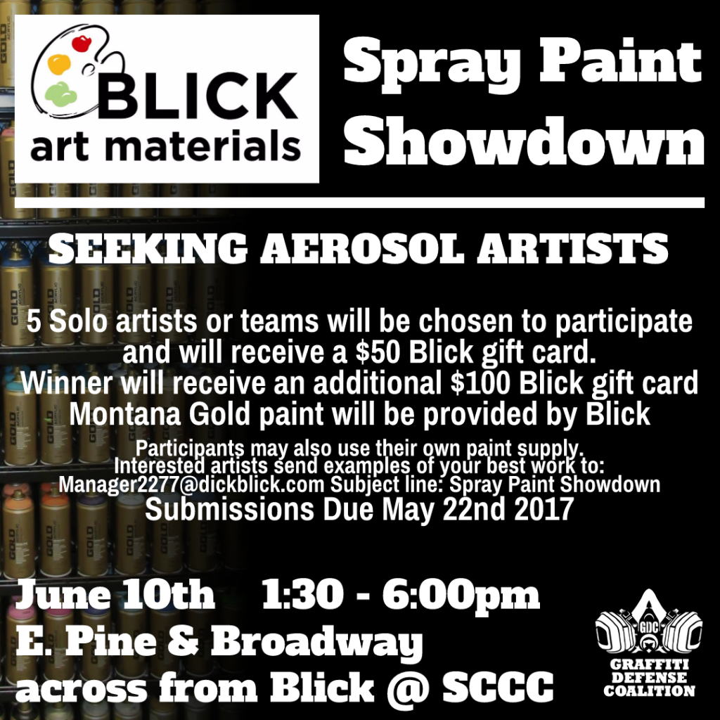 Blick and GDC 2017 Spraypaint Showdown | Seattle Mural Project