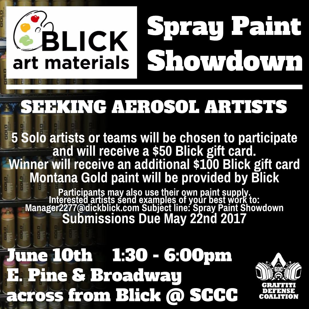 Blick GDC Spraypaint Showdown 2017
